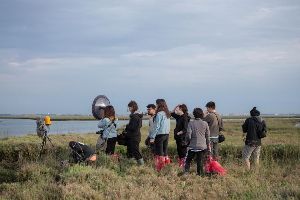 Credit: The Swamp School. Swamp Radio workshop by Jana Winderen. Photo by Norbert Tukaj